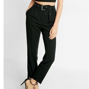 Express Belted High Rise Ankle Pants NWT